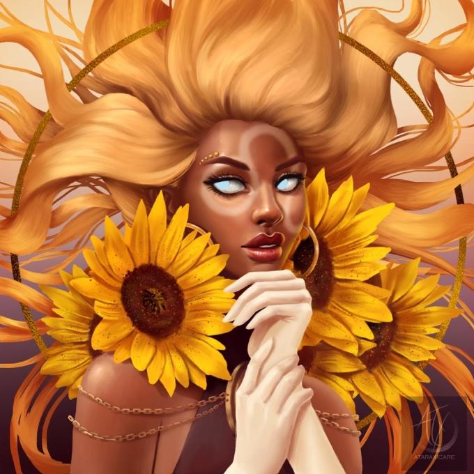 <p> Chị đại Sư Tử vẫn sáng chói và ngời ngời khí chất với mái tóc vàng óng ả như mặt trời.</p>
