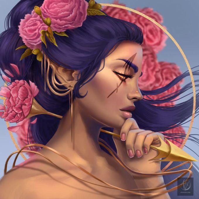 <p> Tạo hình của Nhân Mã vừa đẹp vừa cá tính, không quá kỳ bí, đáng sợ nhưng vẫn giữ được nét bí ẩn của một nữ thần.</p>