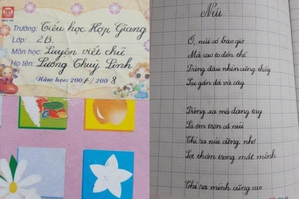 Nét chữ đẹp như in thời tiểu học của Hoa hậu Lương Thùy Linh