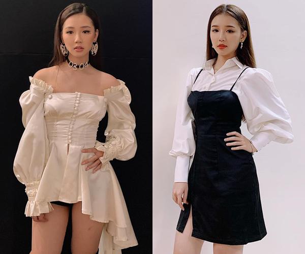 Thời trang đi diễn của cô nàng được định hình rất rõ nét với những trang phục đơn sắc nhưng vẫn nổi bật nhờ kiểu dáng điệu đà, mang chút hơi hướng Hàn Quốc.