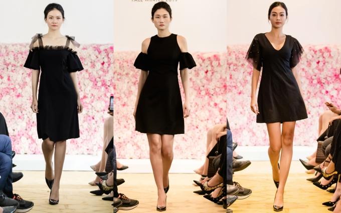 <p> BST gồm 48 looks, mang sắc thái thanh lịch, cổ điển. Những mẫu váy chít eo hay dáng suông đều có tay phồng hoặc tay chuông. Các thiết kế còn được kết hợp cùng lớp viền voan mỏng tạo nên độ nữ tính.</p>