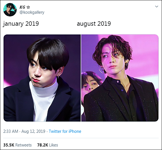 Jung Kook (BTS) gây sốt với màn biến hình ấn tượng chỉ trong 1 năm