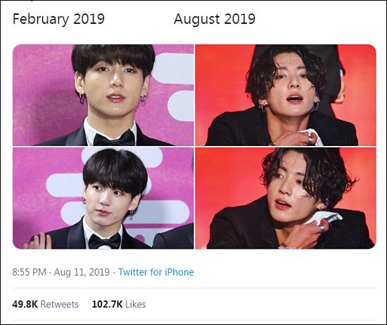 Netizen sửng sốt trước màn biến hình của Jung Kook (BTS) chỉ trong vài tháng - 1