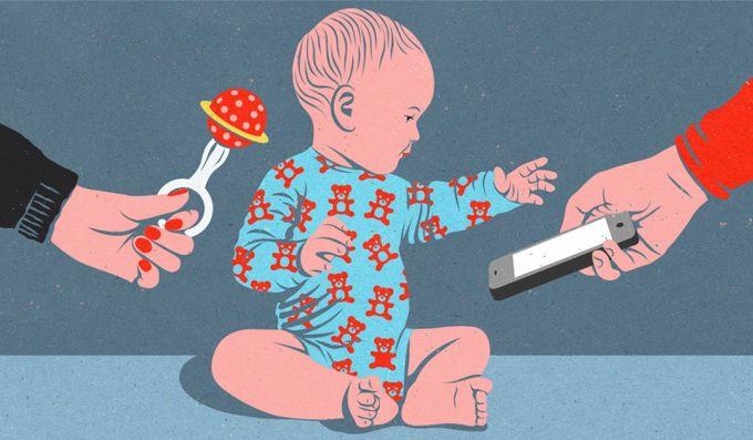 <p> Cách nuôi dạy trẻ ngày nay khác xưa quá nhiều. Thay vì đưa đồ chơi, gấu bông, kẹo mút, thứ dỗ dành những đứa trẻ giờ là đồ công nghệ.</p>
