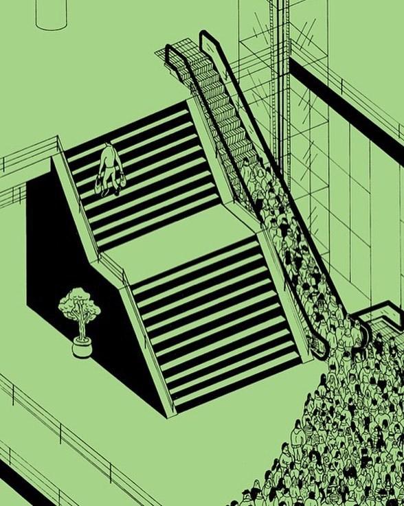 """<p> Con người ngày càng trở nên thụ động và lười biếng. Họ muốn """"ăn sẵn"""" hơn là tự thân vận động. Họ luôn muốn chọn con đường dễ dàng cho bản thân và quên đi việc phải nỗ lực trước mắt.</p>"""