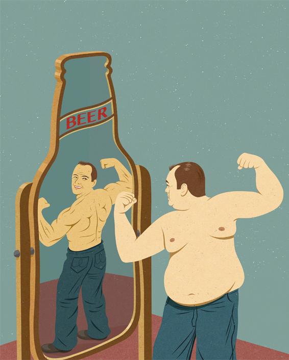 <p> Rượu, bia, đồ uống có cồn khiến cơ thể bạn phát phì mất kiểm soát. Thế nhưng bao người vẫn đang tự lừa gạt về tình trạng của bản thân.</p>