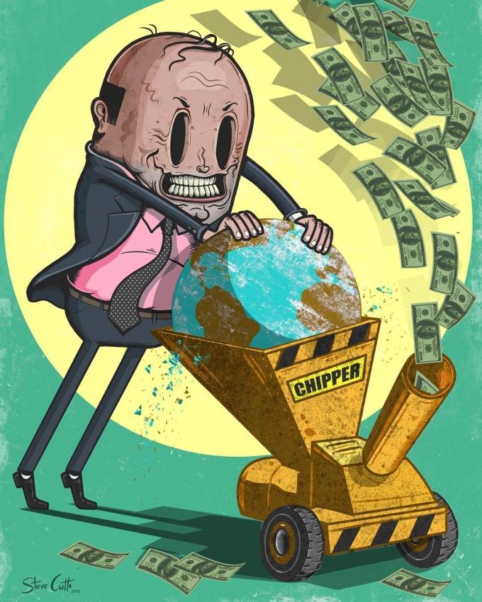 <p> Con người đang từng ngày, từng giờ vắt kiệt Trái Đất chỉ để kiếm tiền.</p>