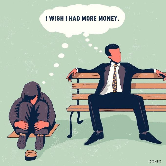 <p> Dù là người giàu hay người nghèo, mong ước có thêm thật nhiều tiền luôn thường trực trong đầu họ.</p>