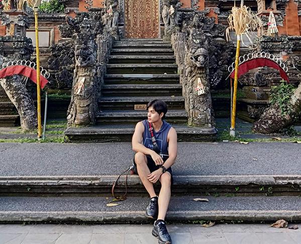 Jun Phạm đang có chuyến du lịch ở Bali.