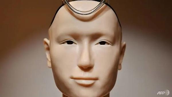 Phần mặt được bọc silicone để trông giống da người.