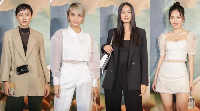 <p> Dàn người đẹp The Face gồm: Hồ Thu Anh, Linh Chi, Quỳnh Anh, Trâm Anh (từ trái qua).</p>
