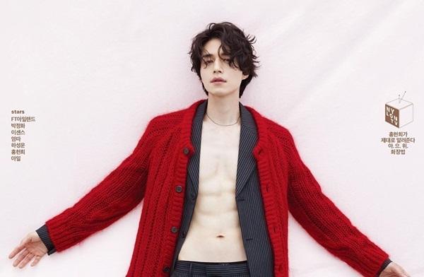 Lee Dong Wook phanh áo khoe cơ bụng 6 múi quyến rũ trên bìa tạp chí Nylon.
