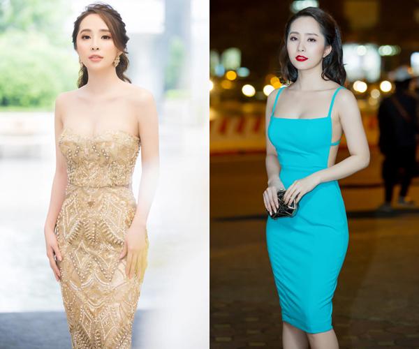Khi dự sự kiện, Quỳnh Nga chuộng váy ôm sát, xẻ cổ sâu, hở lưng trần... Cô cũng thường chọn các loại phụ kiện hàng hiệu để tăng đẳng cấp.