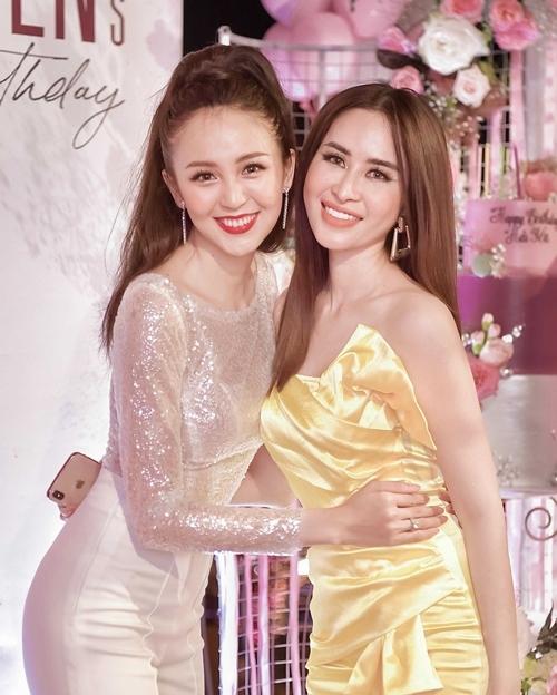 Princess Ngọc Hân - Hoa hậu được yêu thích nhất Miss Glam World - đến dự sinh nhật Hải Yến.