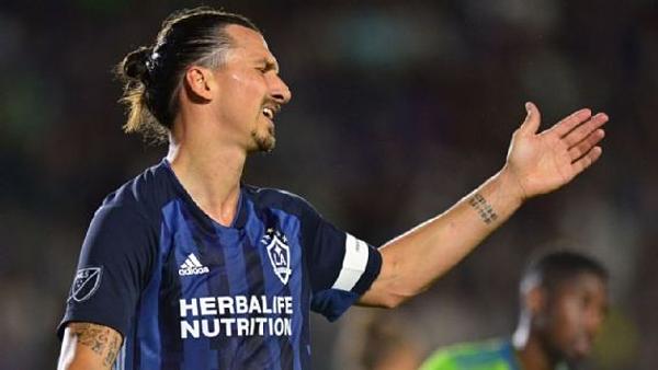 Cú đúp của Zlatan Ibrahimovic không đủ để đưa LA Galaxy chiến thắng Seattle Sounders.