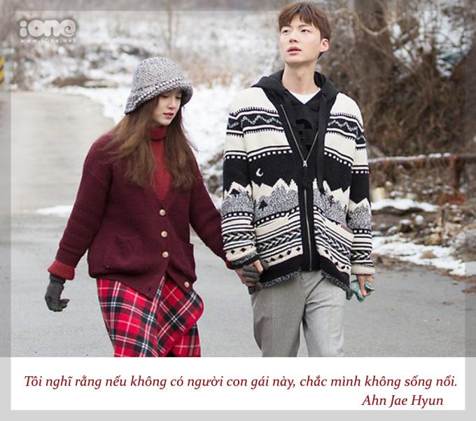 <p> Trên chương trìnhTây Du Ký 2, Ahn Jae Hyun từng nhiều lần bày tỏ tình cảm với vợ.</p>