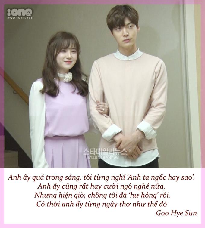 <p> Sau 3 năm kết hôn, Goo Hye Sun thừa nhận chồng đã thay đổi.</p>