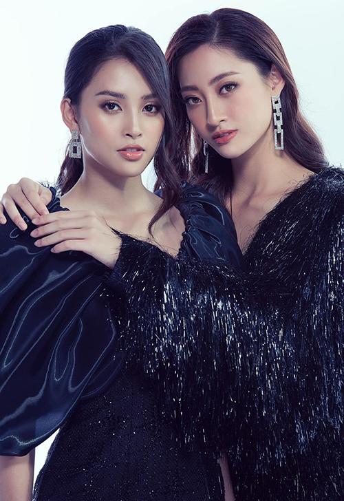 Hai Hoa hậu 10x Tiểu Vy - Thùy Linh không chỉ sinh cùng năm mà còn cùng cả tháng. Cặp đôi vừa đọ sắc lần đầu tiên trong một bộ ảnh thời trang.