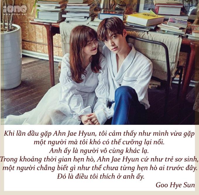 <p> Vào tháng 7/2019, Goo Hye Sun tổ chức buổi họp báo phát hành sách. Nữ diễn viên chia sẻ về ấn tượng đầu tiên khi gặp Ahn Jae Hyun.</p>