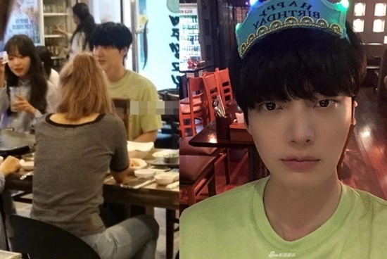 Ahn Jae Hyun đi ăn cùng phụ nữ lạ trong ngày sinh nhật.