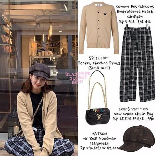 Trước đó, Ji Soo từng khiến chiếc quần họa tiết checked của thương hiệu Spelledit bán hết veo trong thời gian ngắn. Style thời trang của mỹ nhân 9X được đánh giá là không kén người diện.