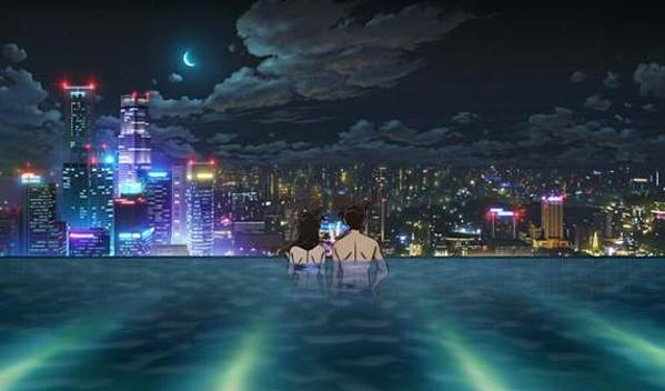 Khung cảnh hẹn hò lãng mạn của cặp đôi Ran và Shinichi.