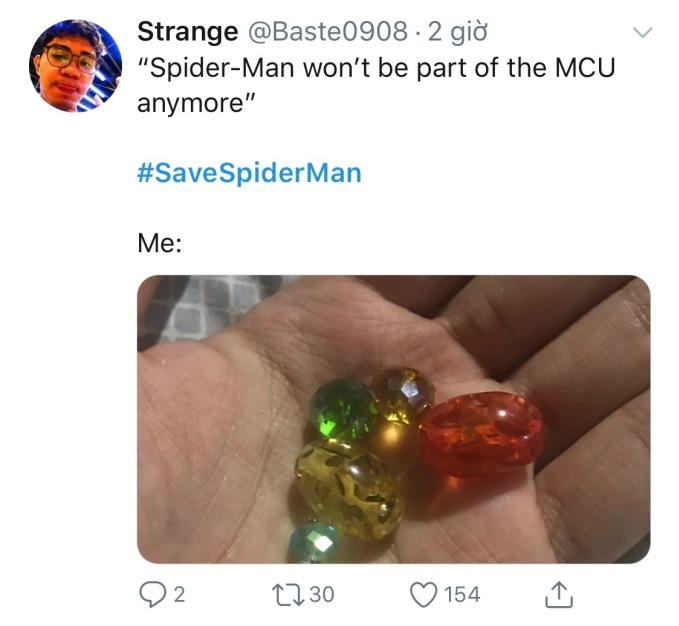 <p> Người hâm mộ này dự định thu thập 6 viên đá vô cực để mang Spider-Man trở lại.</p>