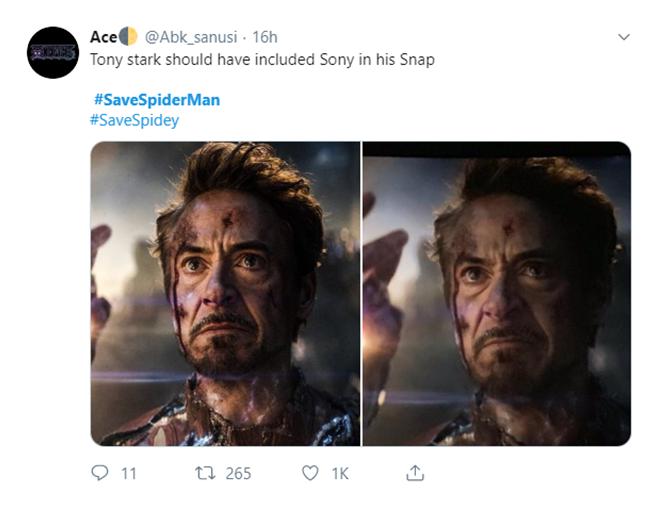 """<p> """"Đáng lẽ Tony Stark nên mang theo Sony khi thực hiện cú búng tay"""".</p>"""