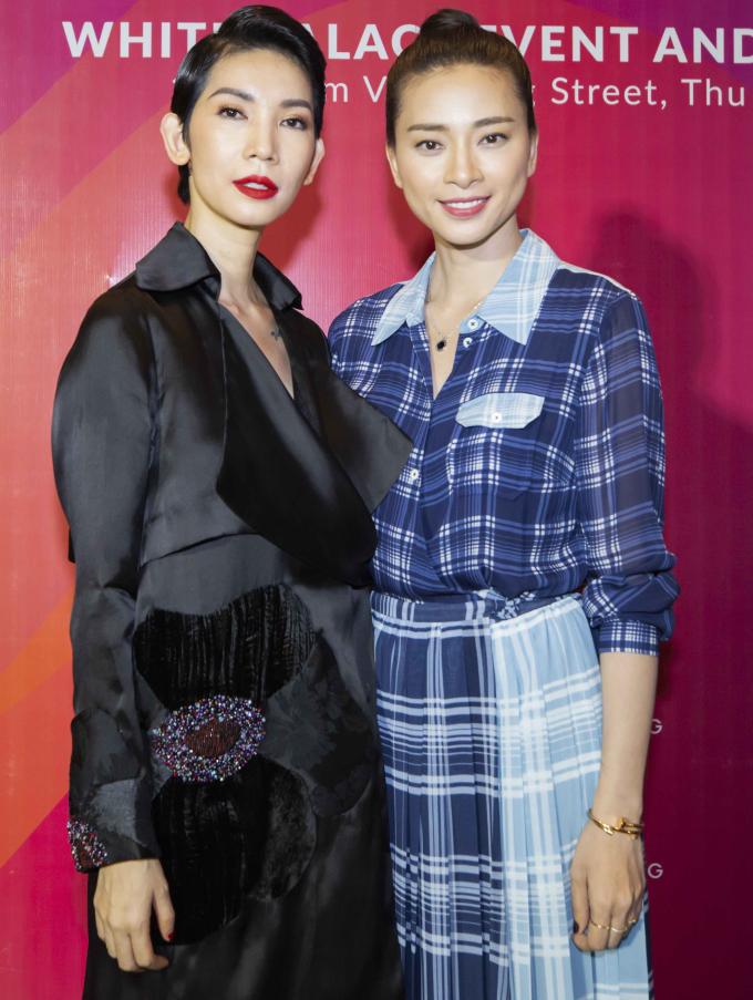 <p> Ngô Thanh Vân đến chúc mừng người bạn thân thiết khai mạc sự kiện thành công.</p>