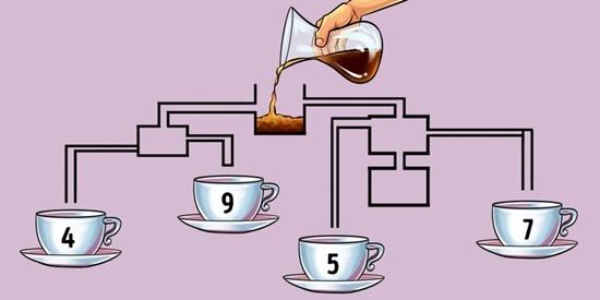 Câu đố khiến bạn dễ bị lừa: Tách nào có cà phê đầu tiên?