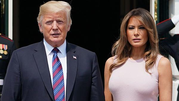 Tổng thống Mỹ, Donald Trump và vợ.