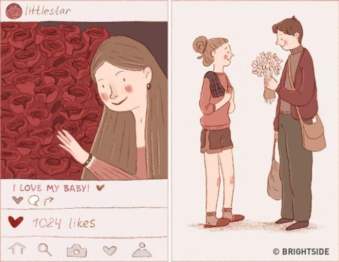 """<p> Đôi khi các chàng phải tinh tế nắm bắt tâm tư con gái, không phải cứ """"auto thả tim"""" ảnh của cô ấy là hay đâu nhé.</p>"""