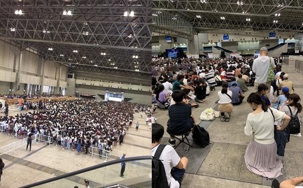 Ước tính có khoảng 10.000 người chờ mua goods ngày 25/8 tại Chiba.