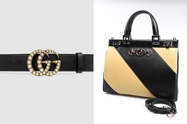 Nữ ca sĩ diện cùng thắt lưng đính ngọc traigiá 700 USD (hơn 16 triệu đồng) và túi Gucci Zumi phối hai màu be - đen giá 3.300 USD (gần 77 triệu đồng).