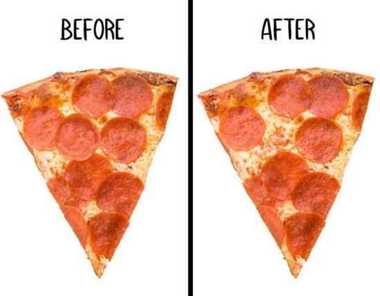 Miếng pizza này đã bị ăn vụng mất topping gì? - 6