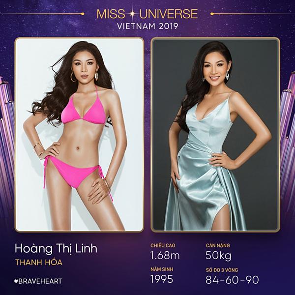 Thông tin về Hoàng Linh được đăng tải trên trang Miss Universe Vietnam.