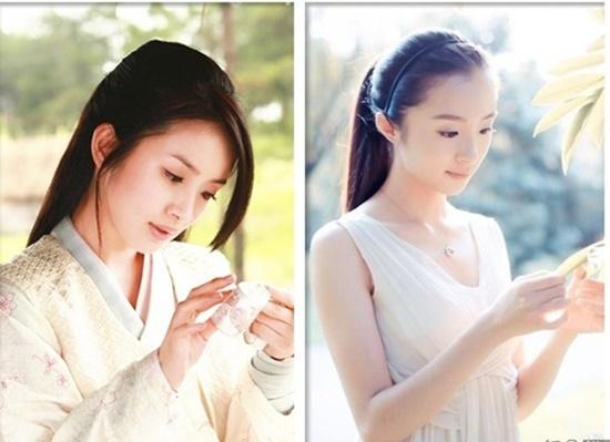 Hồ Băng Khanh có khí chất hợp với dòng phim cổ trang. Nhiều khán giả nhận xét nữ diễn viên có nét đẹp mong manh, nhẹ nhàng giống đàn chị Lưu Thi Thi hoặc Trần Kiều Ân (ảnh trái).