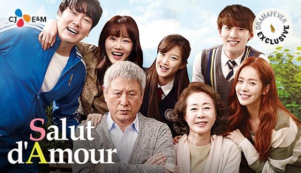 Chan Yeol (hàng sau, bìa phải) cùng các diễn viên trong phim.