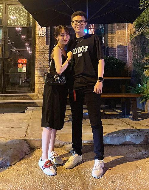 Mẫu Gucci Marmont giá hơn 30 triệu đồng được Minh Anh đeo khi đi chơi thời còn hẹn hò với ông xã Tâm Nguyễn.