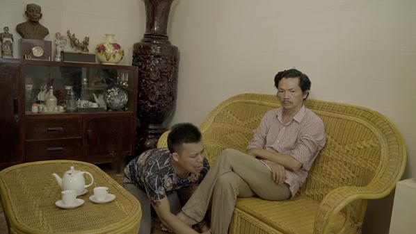 Nguyễn Love đóng vai con trai NSND Trung Anh.