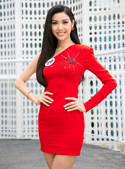 Thúy Vân tại Sơ khảo phía Nam của Miss Universe Vietnam.