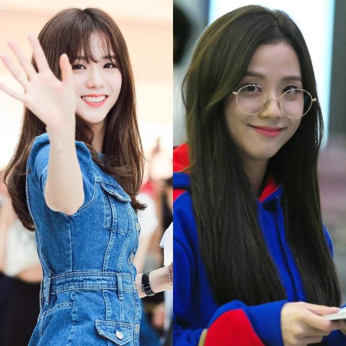 <p> Trái với Jennie, Lisa, Ji Soo sẽ đẹp hơn khi không đeo kính. Chiếc kính ngố làm cô khó toát lên thần thái của một visual.</p>