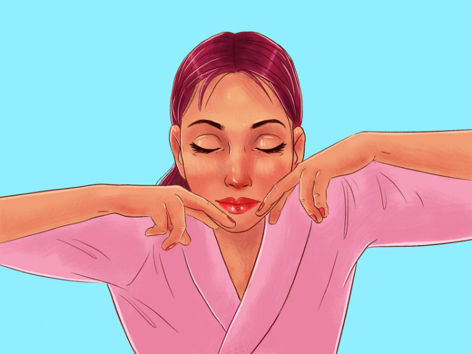 <p> <strong>Bước 5: Tạo đường xương hàm rõ rét</strong><br /> Sử dụng ngón trỏ và ngón giữa ở cả hai tay, miết nhẹ theo đường xương hàm từ cằm lên đến tai. Lưu ý, bạn nên tạo một lực nhẹ, không quá mạnh để tránh gây tổn thương cho da. Thực hiện liên tục 6 lần.<br /> Bài tập này giúp dẫn lưu bạch huyết và tạo đường xương hàm săn chắc, thon gọn cho mặt.</p>