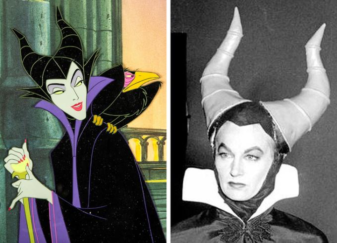 <p> <strong>Maleficent - Eleanor Audley</strong></p> <p> Eleanor Audley không chỉ lồng tiếng cho Maleficent trong <em>Người đẹp ngủ trong rừng</em>, Disney còn yêu cầu cô thực hiện cảnh quay để các nhà làm phim sáng tạo chuyển động và khuôn mặt cho Maleficent.</p> <p> Ngoài ra, Eleanor cũng truyền cảm hứng tạo ra nhân vật Lady Tremaine - người mẹ kế ác độc trong <em>Cinderella</em>.</p>