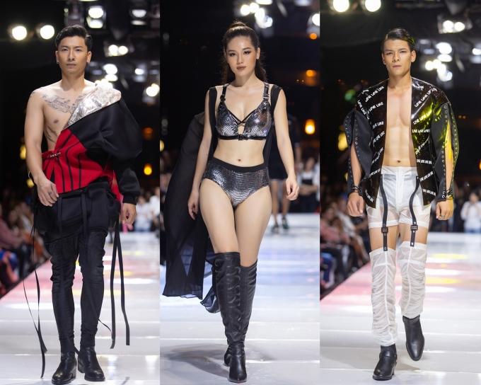 <p> Một số thiết kế khá táo bạo, giúp người mặc khoe body.</p>