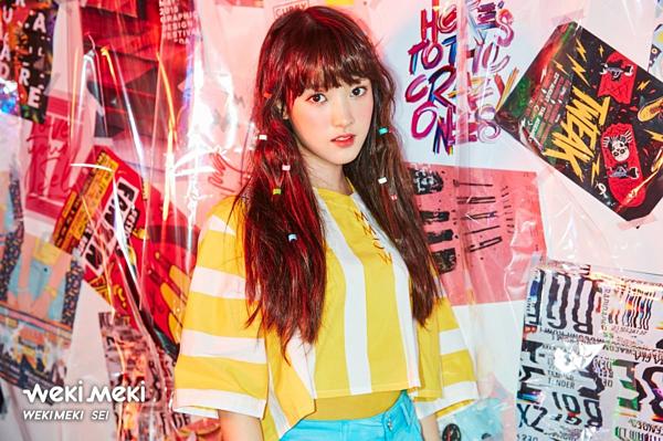 Dù không thành công ở Produce 101, Sei vẫn được chọn ra mắt cùng Weki Meki. Nữ idol đã chọn được kiểu trang điểm phù hợp với mình. Việc thay đổi ngoại hình của Sei khiến nhiều người không nhận ra hình ảnh cũ của cô khi tham gia Produce 101.