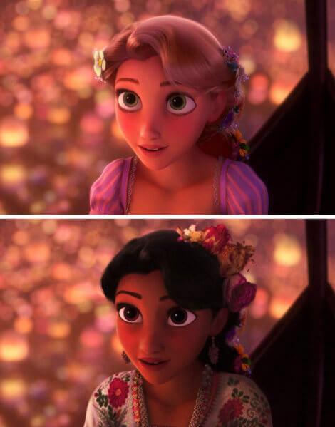 Công chúa tóc mây - Rapunzel.