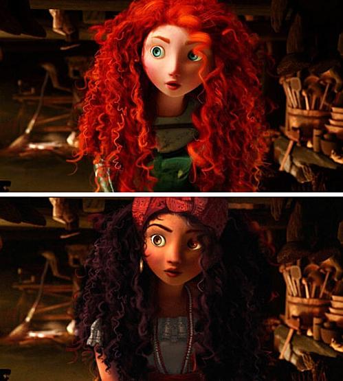 Công chúa tóc xù - Merida.