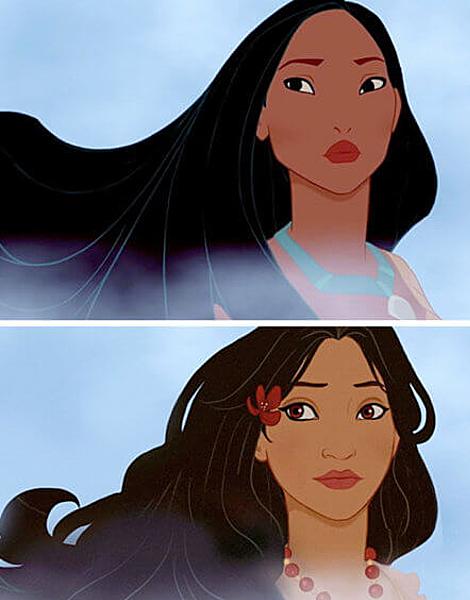 Công chúa thuộc bộ lạc da đỏ - Pocahontas.