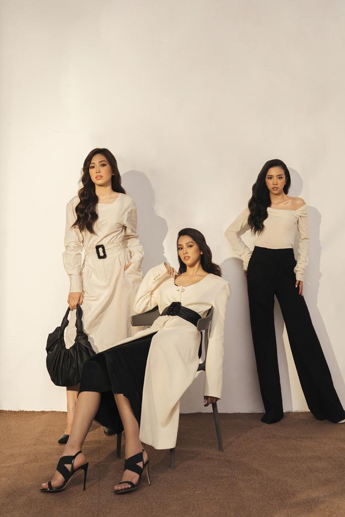 <p> Sau một năm đương nhiệm, ba người đẹp vẫn giữ mối quan hệ chị em thân thiết.</p>